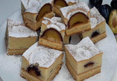 KOLAČ SA ŠLJIVAMA (JEDNOSTAVAN, SOČAN I MEKAN)- CAKE WITH PLUMS