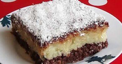 Socan kokos kolac bez jaja – brza priprema sve od jednom, bez miksera