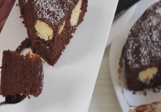 Čokoladna torta sa kuglicama od kokosa