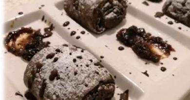 Čokoladno pecivo punjeno džemom i čokoladom