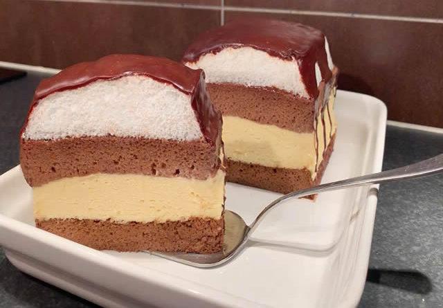 Socni i kremasti kolac kao iz slastičarne