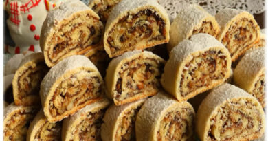 Suhi Kolač s Orasima – Brzo i Jednostavno – Crisp Walnut Roll Cookies – Quick and Simple
