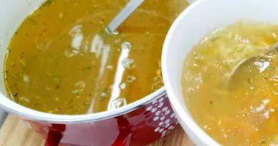 Domaća pileća supa na sremački način -Chicken soup