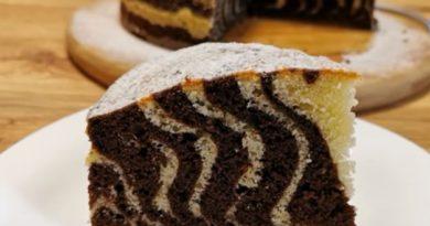 Zebra kolač najjednostavniji kolač za napraviti – umutite i izlijete