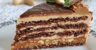 Snikers torta- bez glutena