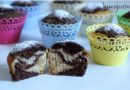 Posni kokos mafini-Marble muffins