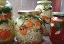 Zimska šarena salata od mešanog povrća u tegli + paradajz u tegli