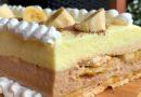 Neodoljiva griz torta sa bananama i keksom – bez pecenja