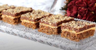 Ukusne orah kocke za sve ljubitelje kolača s orasima i čokoladom