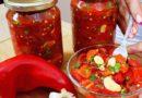 Savrsena salata za zimu, brza i jednostavna priprema: Pecena paprika sa belim lukom iz tegle