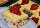Jednostavan i prefin kolač od jagode i vanilija kreme gotov za 15 minuta