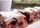 Jeftin voćni kolač – kolač sa višnjama – lako – posno