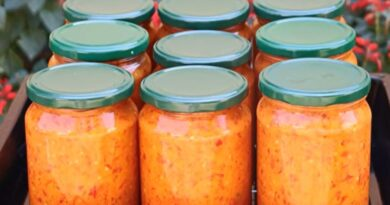 Ajvar pašteta recept/najisplativiji i najbži od barene paprike