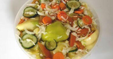 Šarena salata bez konzervansa. Miješana salata – lako pripremiti i trošiti odmah ili zimi